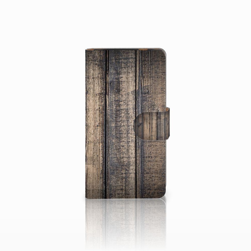 HTC Desire 601 Boekhoesje Design Steigerhout