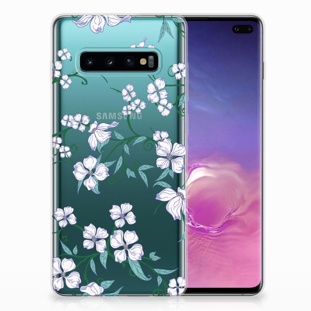Samsung Galaxy S10 Plus Uniek TPU Hoesje Blossom White