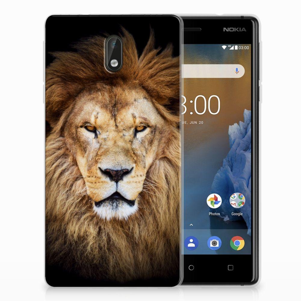 Nokia 3 Uniek TPU Hoesje Leeuw