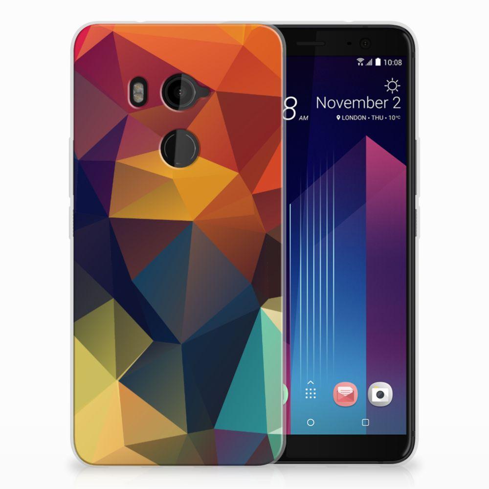 HTC U11 Plus TPU Hoesje Polygon Color