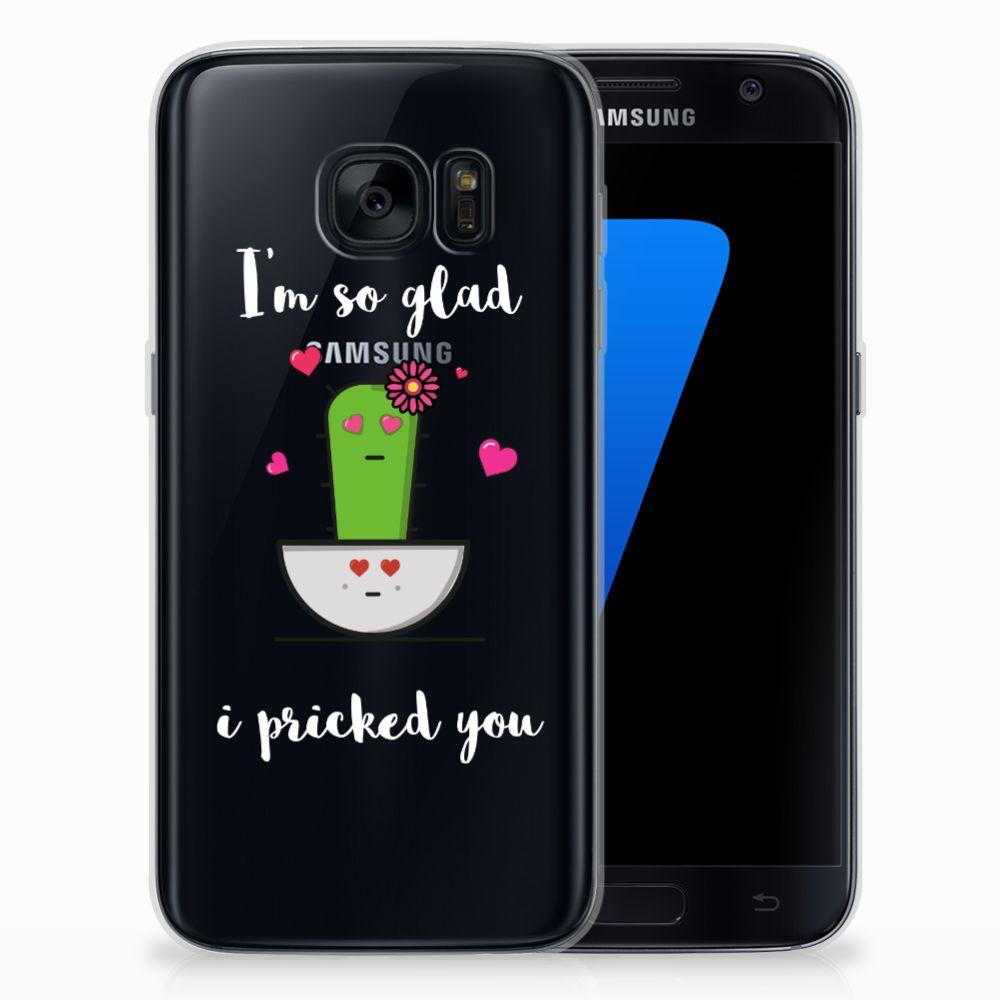 Samsung Galaxy S7 Telefoonhoesje met Naam Cactus Glad