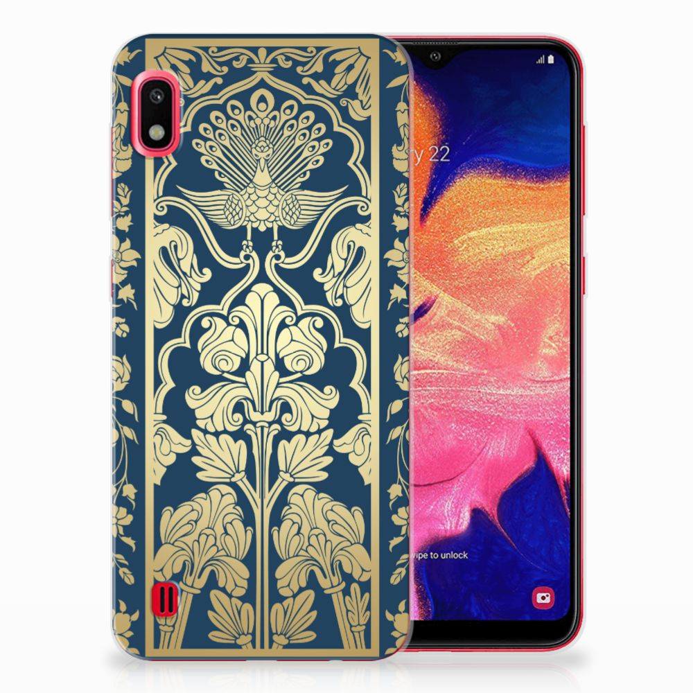 Samsung Galaxy A10 TPU Case Golden Flowers