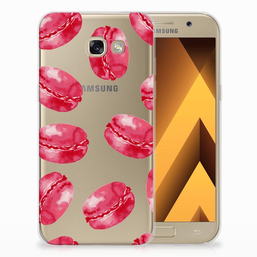 Samsung Galaxy A5 2017 Siliconen Case Pink Macarons