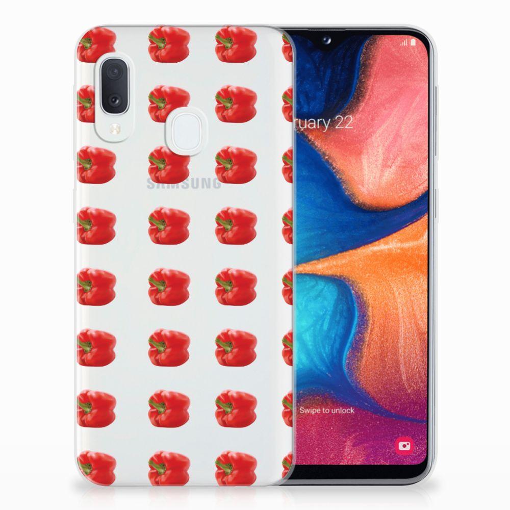 Samsung Galaxy A20e Siliconen Case Paprika Red