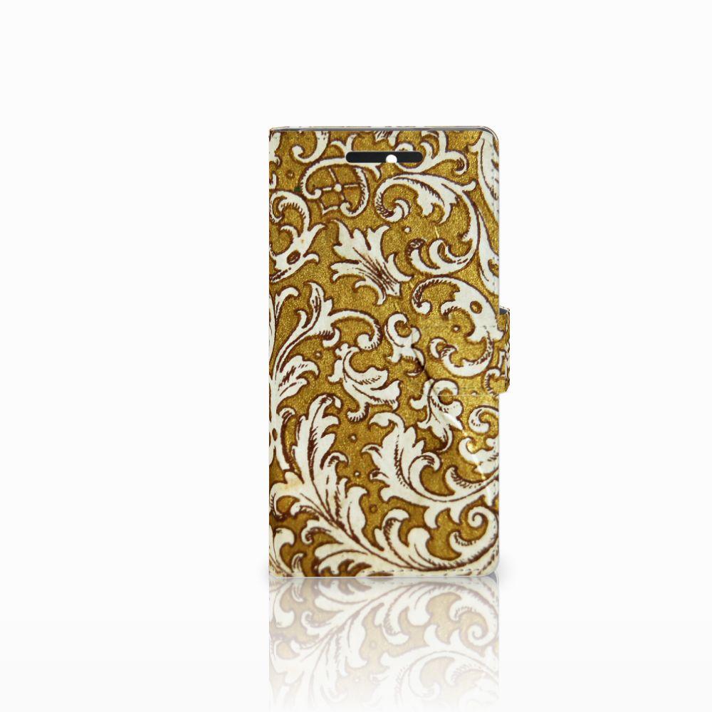 Wallet Case HTC Desire 628 Barok Goud