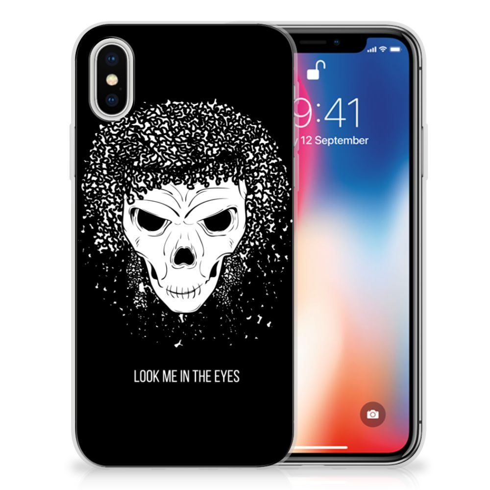 Apple iPhone X | Xs Uniek TPU Hoesje Skull Hair