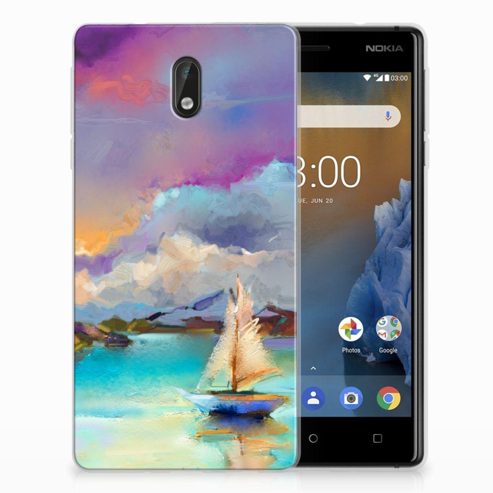 Nokia 3 Uniek TPU Hoesje Boat