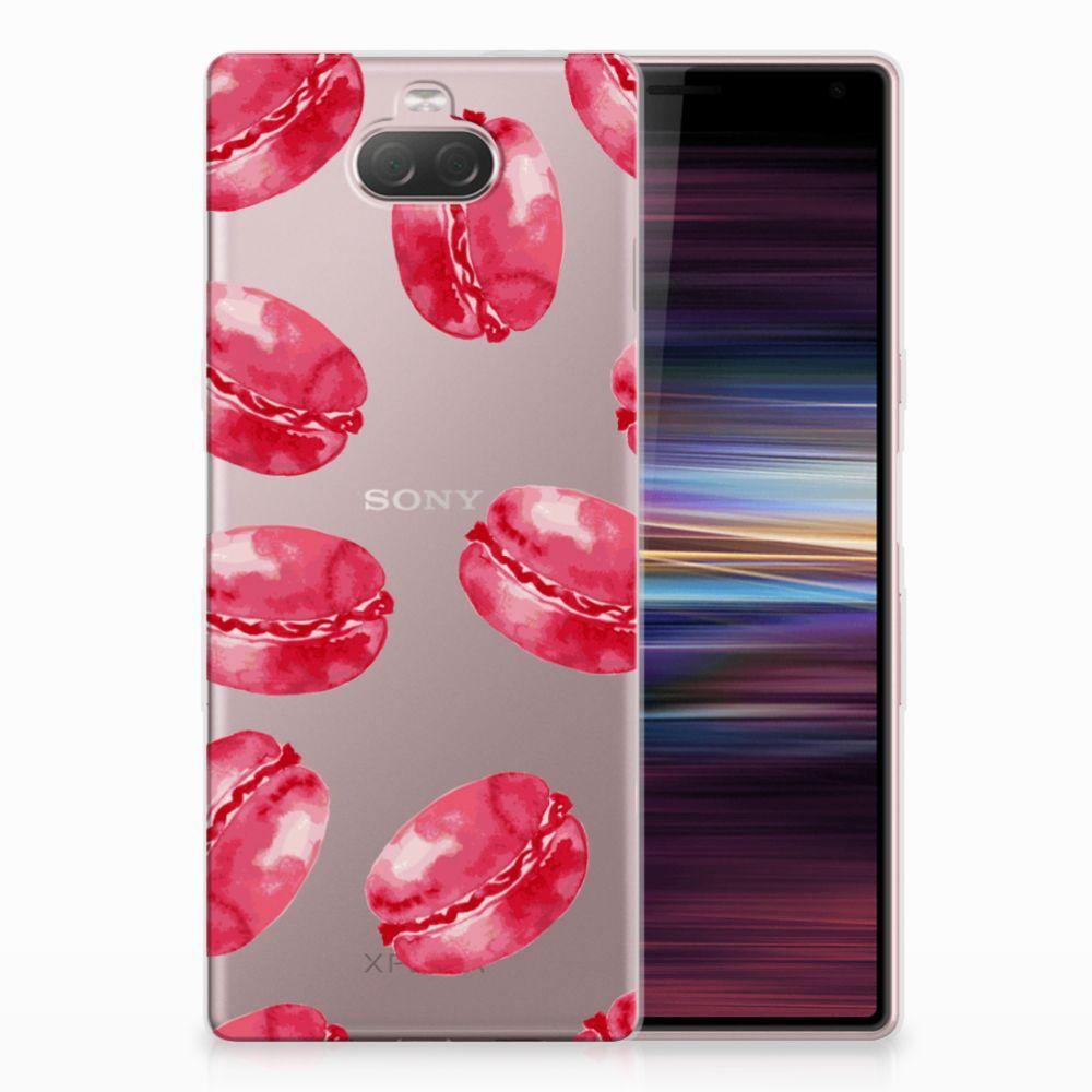 Sony Xperia 10 Siliconen Case Pink Macarons