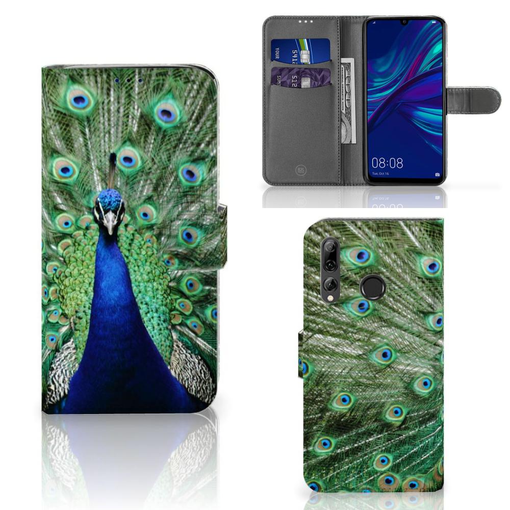Huawei P Smart 2019 Telefoonhoesje met Pasjes Pauw