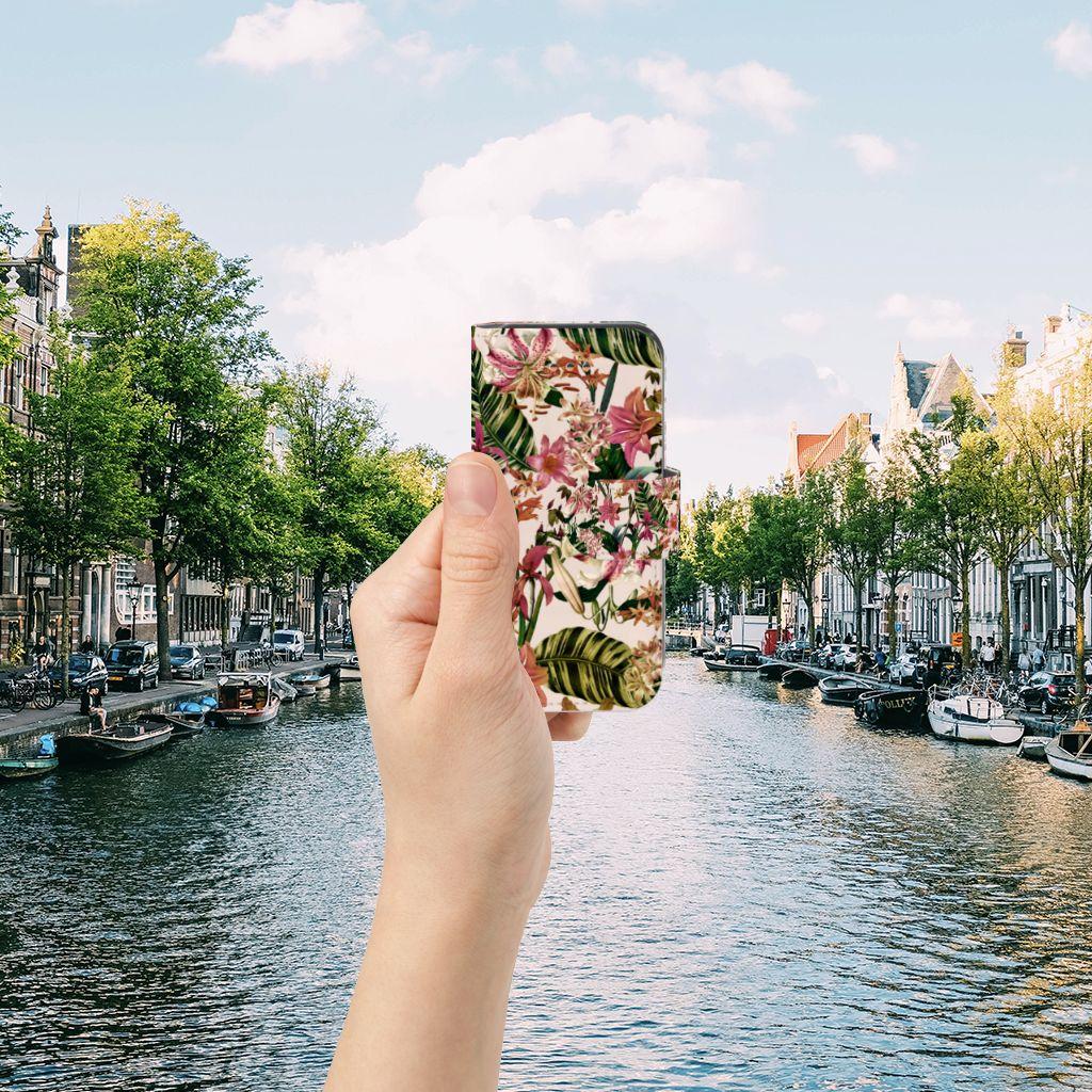 Apple iPhone 5C Uniek Boekhoesje Flowers