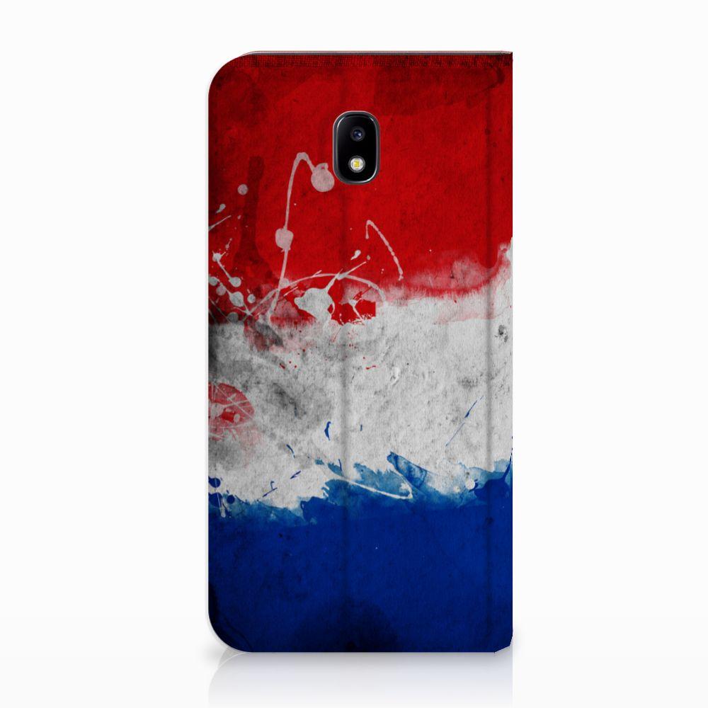 Samsung Galaxy J5 2017 Uniek Standcase Hoesje Nederlandse Vlag