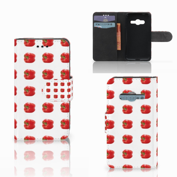 Samsung Galaxy Trend 2 Book Cover Paprika Red