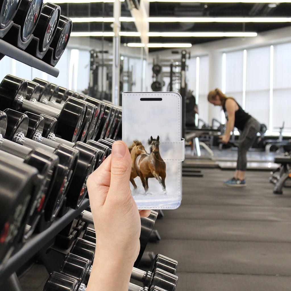 HTC One M9 Uniek Boekhoesje Paarden