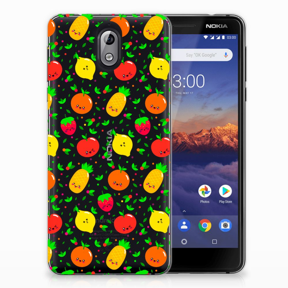 Nokia 3.1 (2018) Siliconen Case Fruits