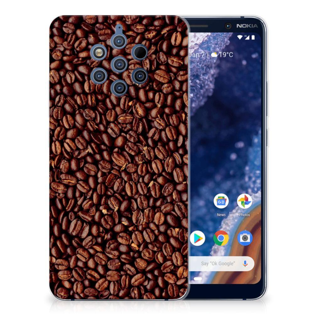 Nokia 9 PureView Siliconen Case Koffiebonen