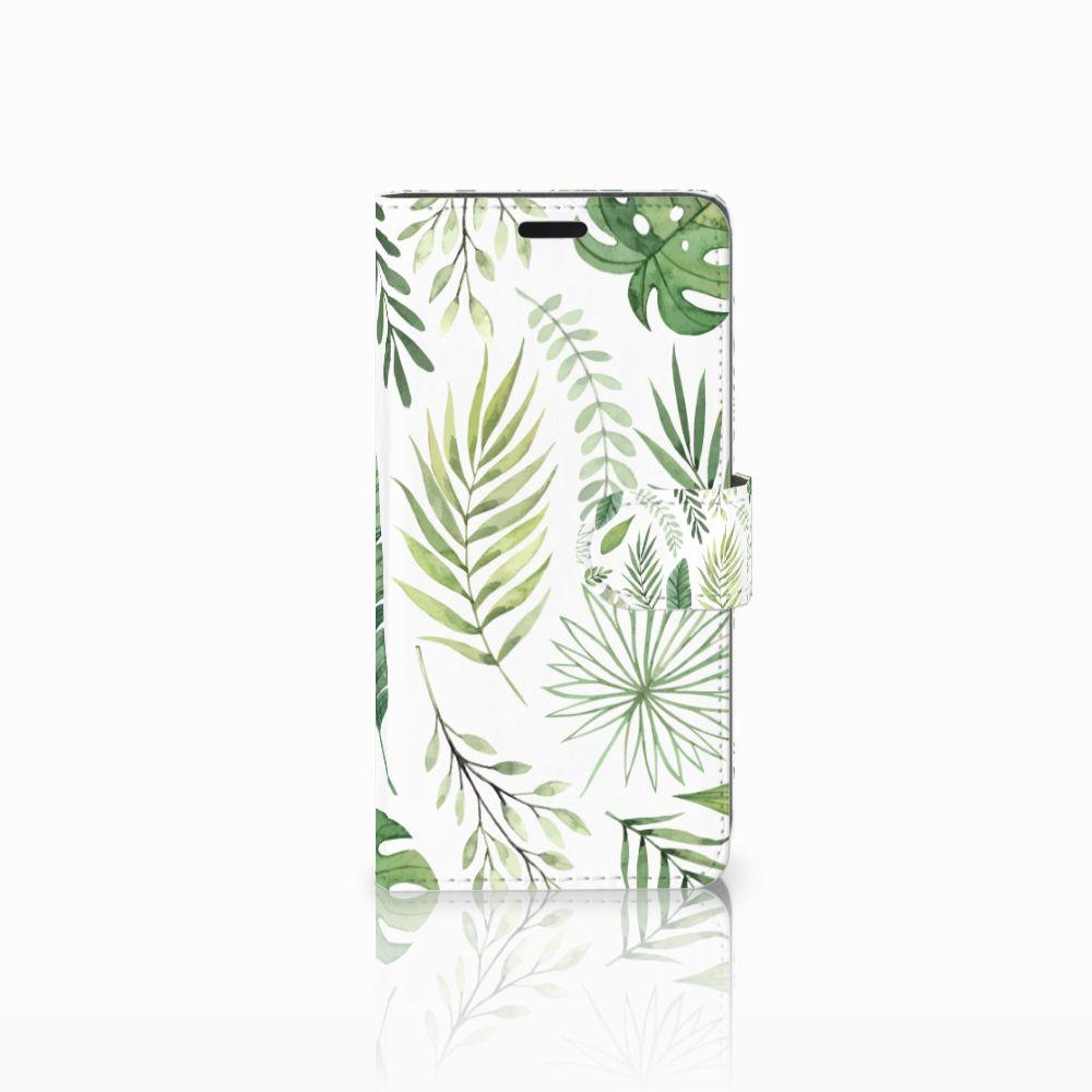 HTC Desire 530 Uniek Boekhoesje Leaves
