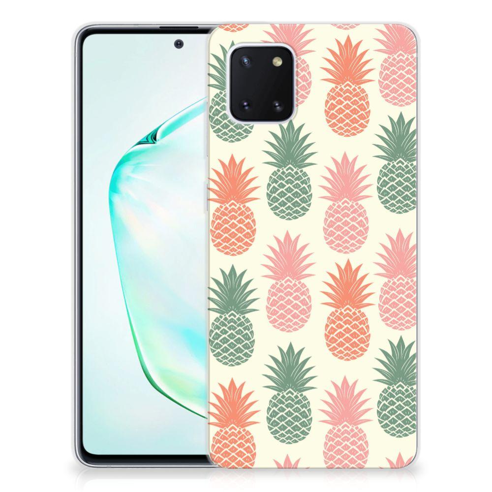 Samsung Galaxy Note 10 Lite Siliconen Case Ananas