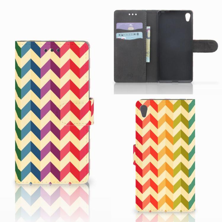 Sony Xperia E5 Telefoon Hoesje Zigzag Multi Color