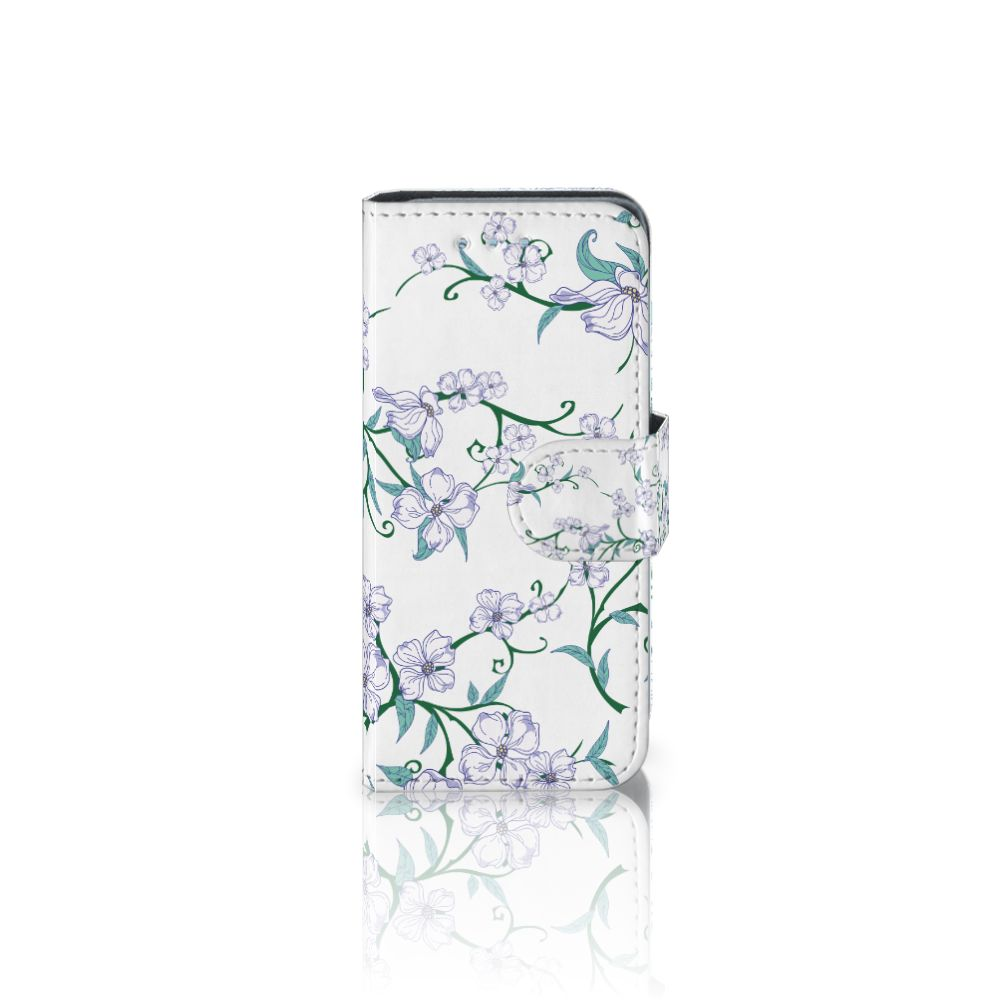 Samsung Galaxy S4 Mini i9190 Uniek Boekhoesje Blossom White