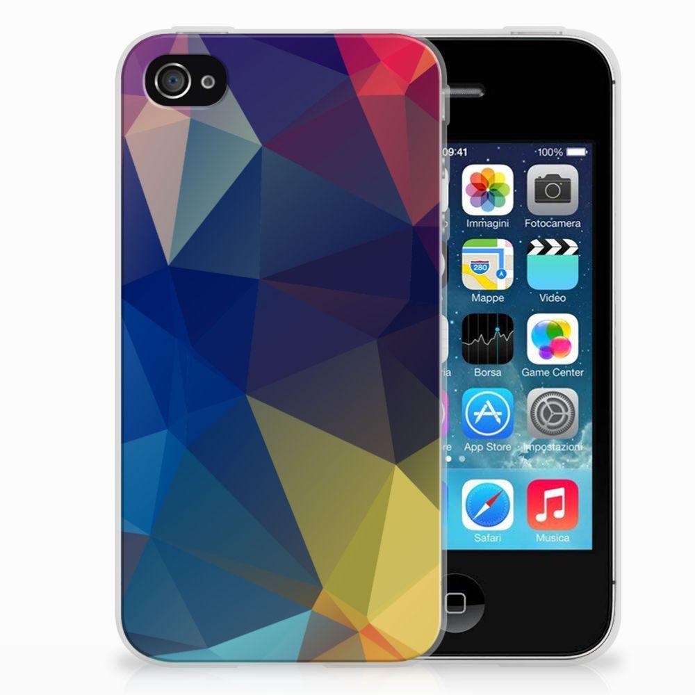 Apple iPhone 4 | 4s Uniek TPU Hoesje Polygon Dark