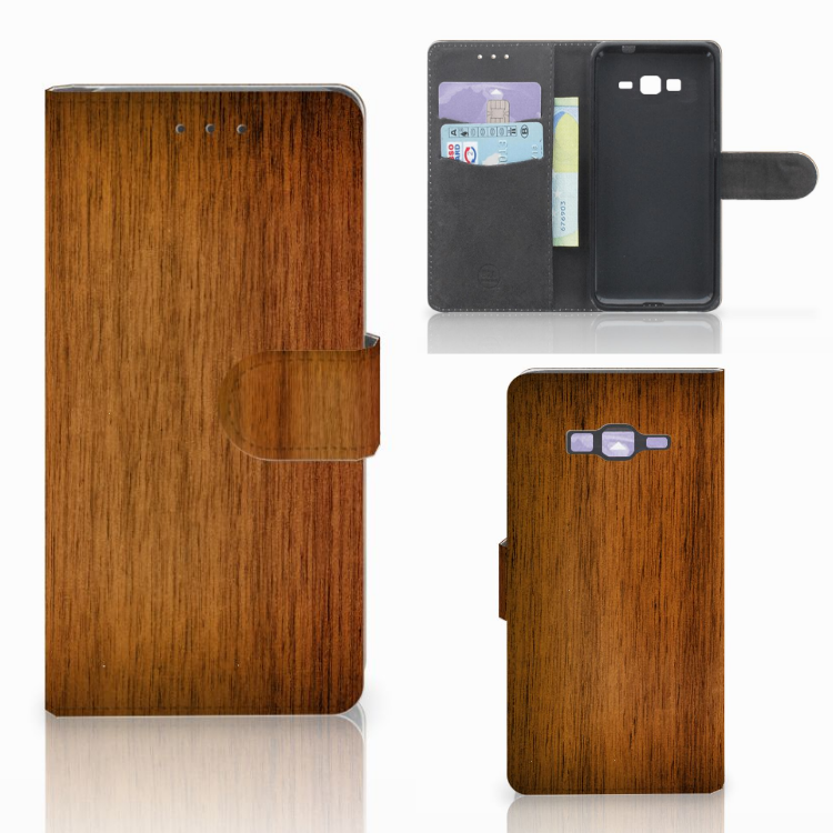 Samsung Galaxy Grand Prime | Grand Prime VE G531F Book Style Case Donker Hout