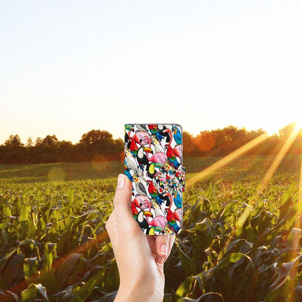 Samsung Galaxy A3 2015 Uniek Boekhoesje Birds