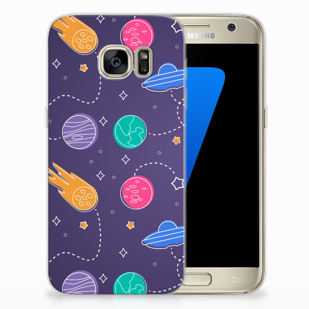 Samsung Galaxy S7 Uniek TPU Hoesje Space