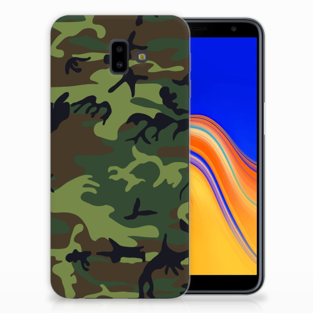 Samsung Galaxy J6 Plus (2018) TPU Hoesje Design Army Dark