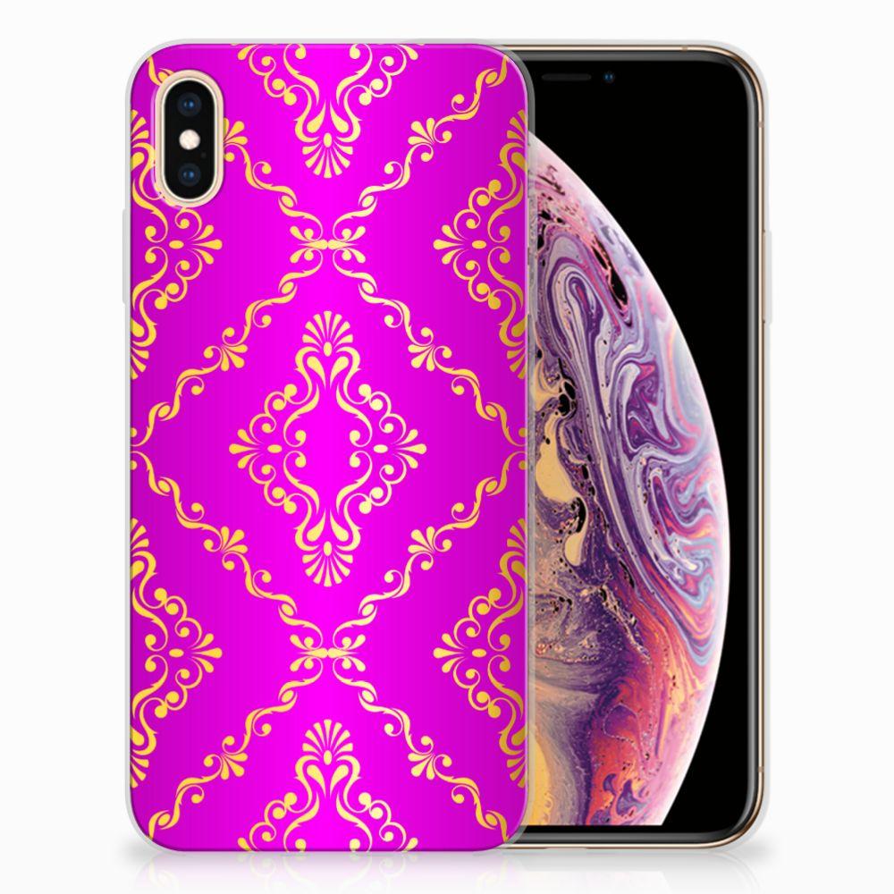 Apple iPhone Xs Max Uniek TPU Hoesje Barok Roze