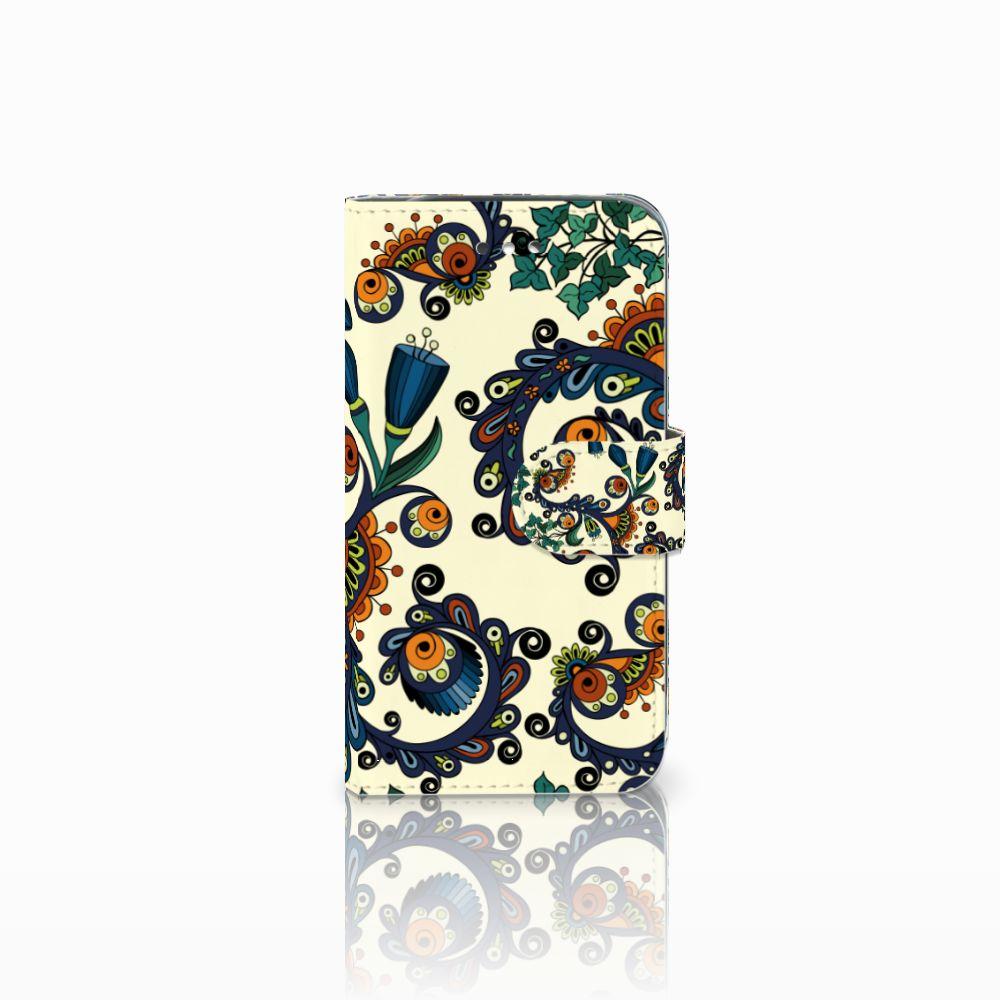 Wallet Case Samsung Galaxy S4 Barok Flower