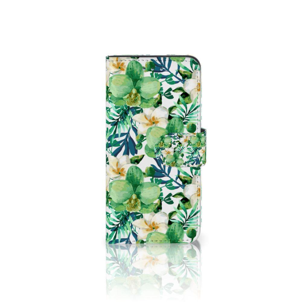Samsung Galaxy S6 | S6 Duos Uniek Boekhoesje Orchidee Groen