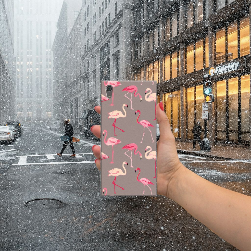 Sony Xperia XA1 Ultra Uniek TPU Hoesje Flamingo