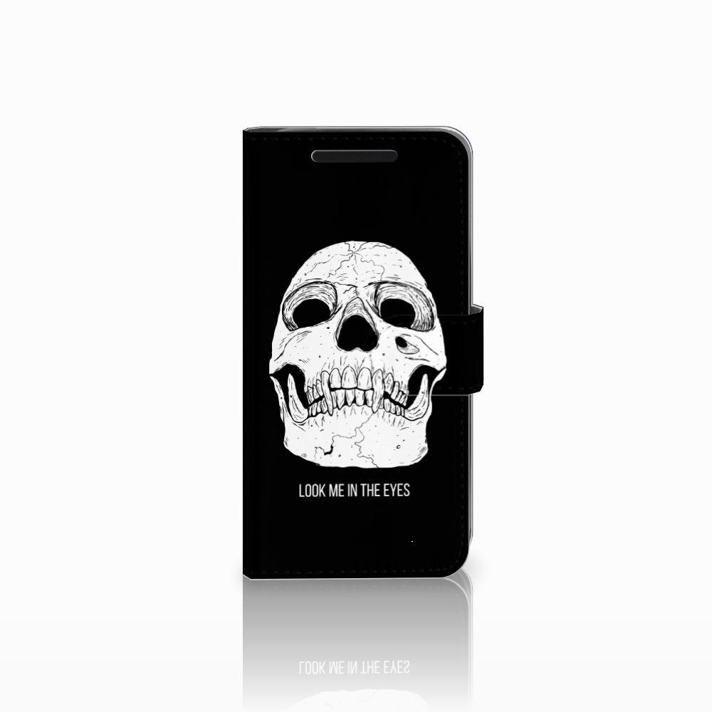 Telefoonhoesje met Naam HTC One M9 Skull Eyes