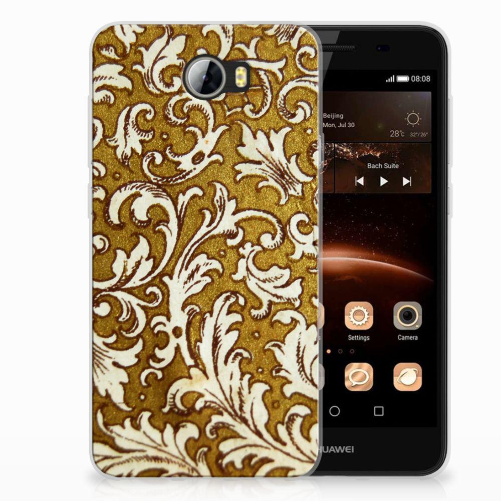 Siliconen Hoesje Huawai Y5 II | Y6 II Compact Barok Goud