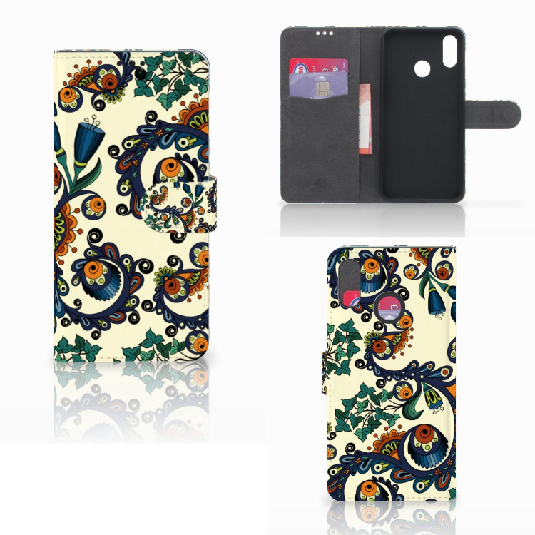 Wallet Case Huawei P Smart Plus Barok Flower