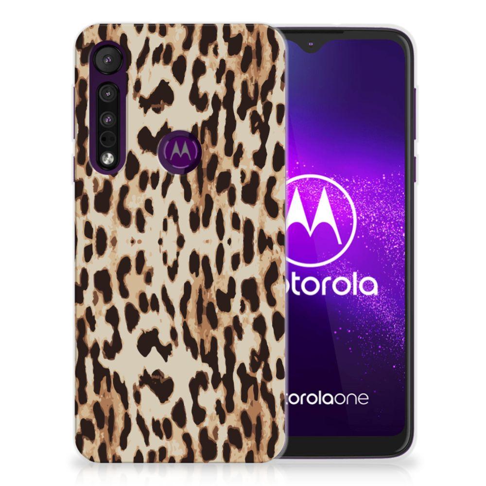 Motorola One Macro TPU Hoesje Leopard