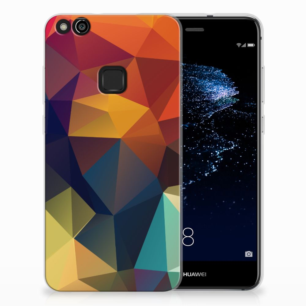 Huawei P10 Lite TPU Hoesje Polygon Color