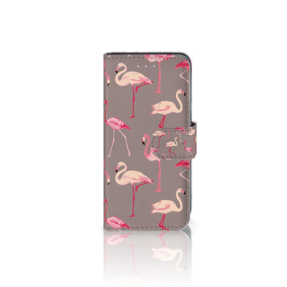 Samsung Galaxy A5 2016 Telefoonhoesje met Pasjes Flamingo