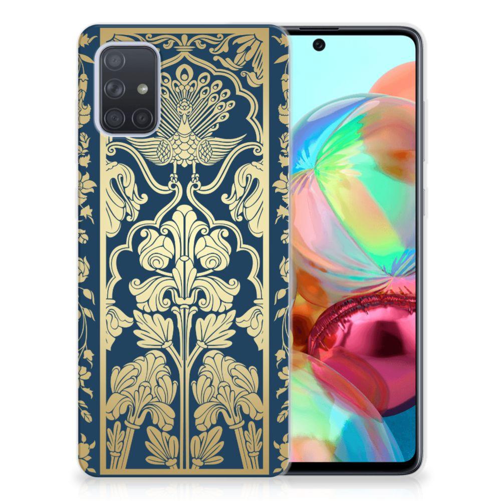 Samsung Galaxy A71 TPU Case Golden Flowers