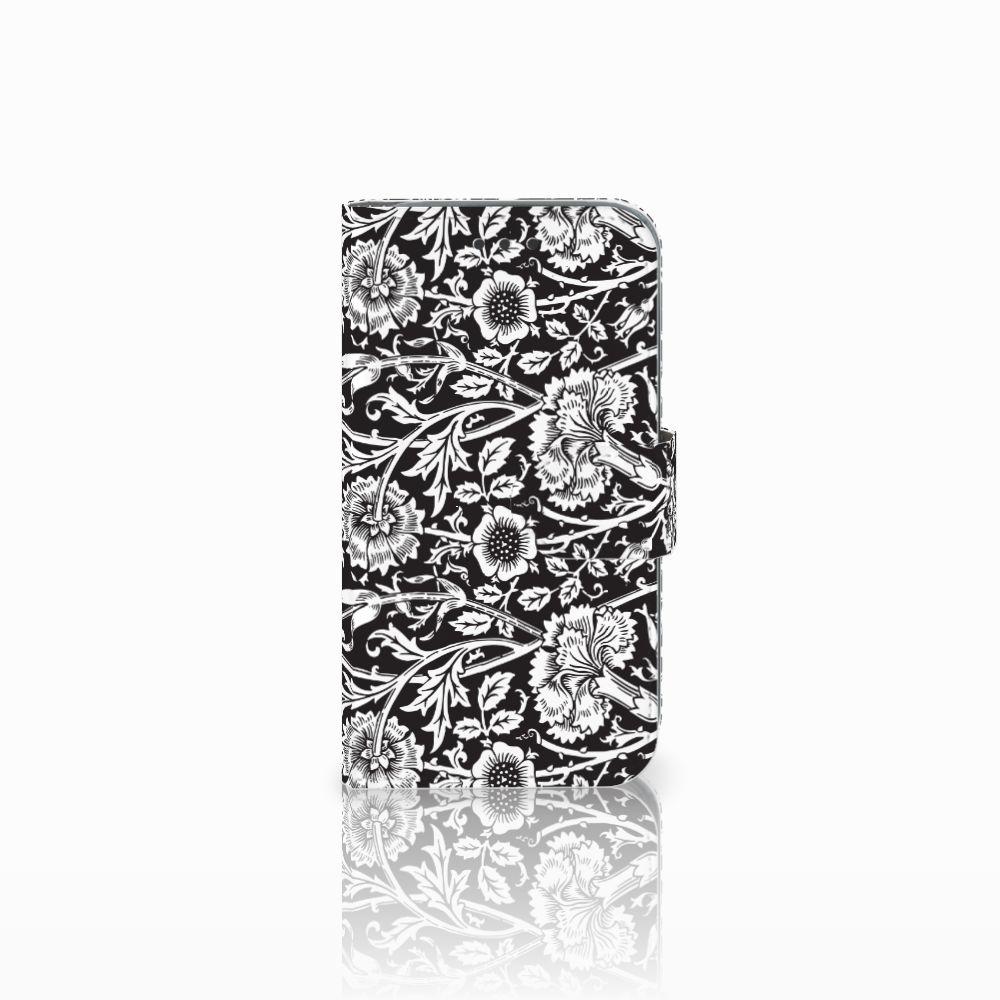 Samsung Galaxy Core Prime Uniek Boekhoesje Black Flowers