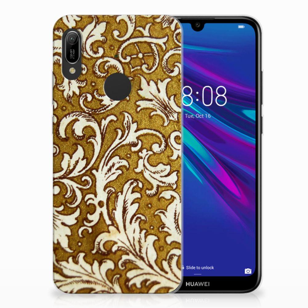 Huawei Y6 2019 | Y6 Pro 2019 TPU Hoesje Design Barok Goud