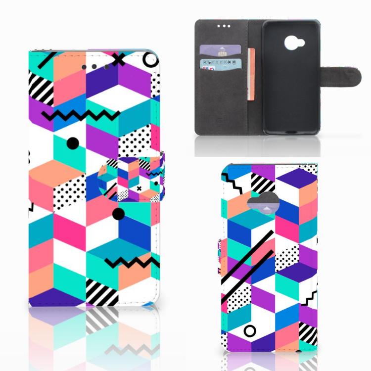 HTC U Play Bookcase Blokken Kleurrijk