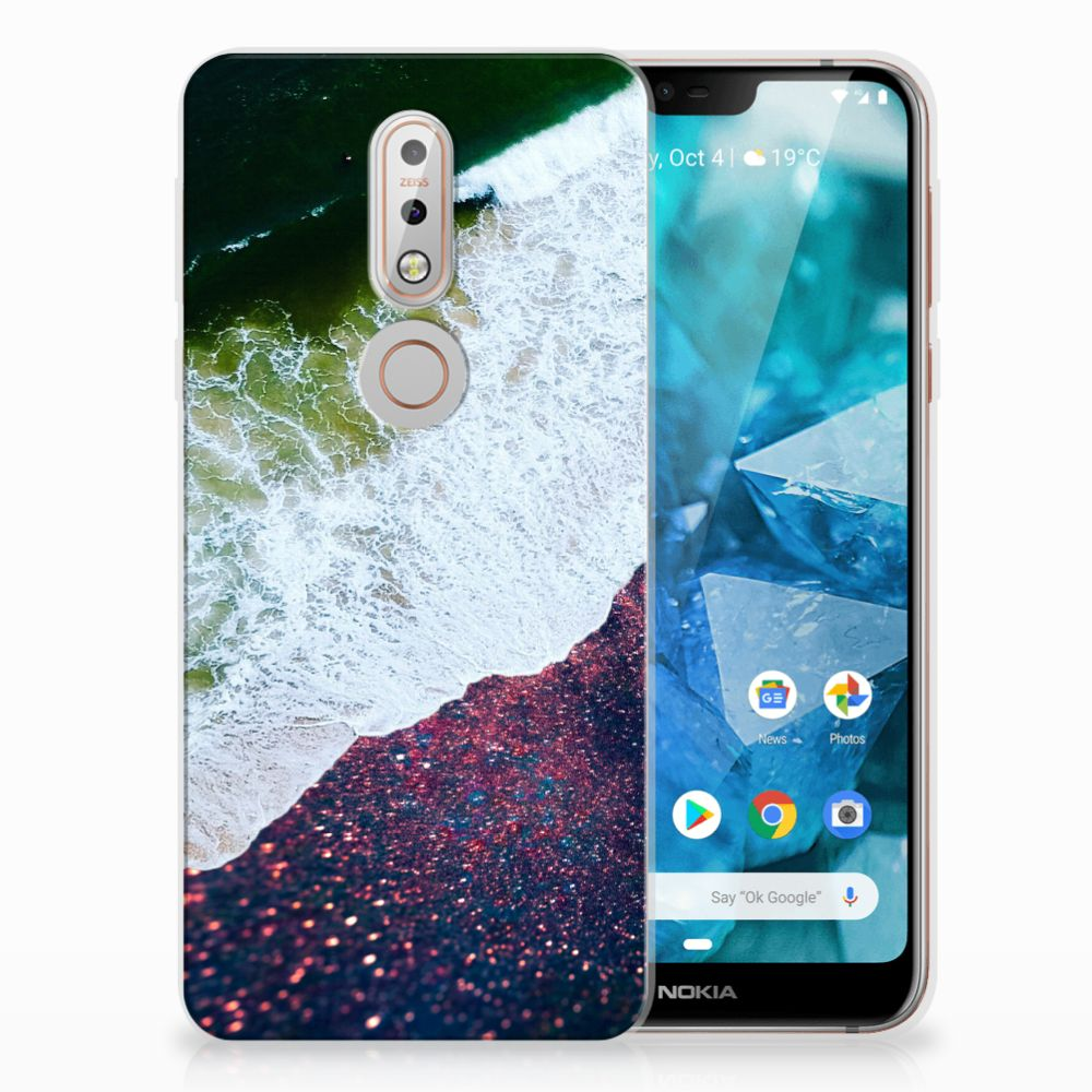 Nokia 7.1 TPU Hoesje Design Sea in Space