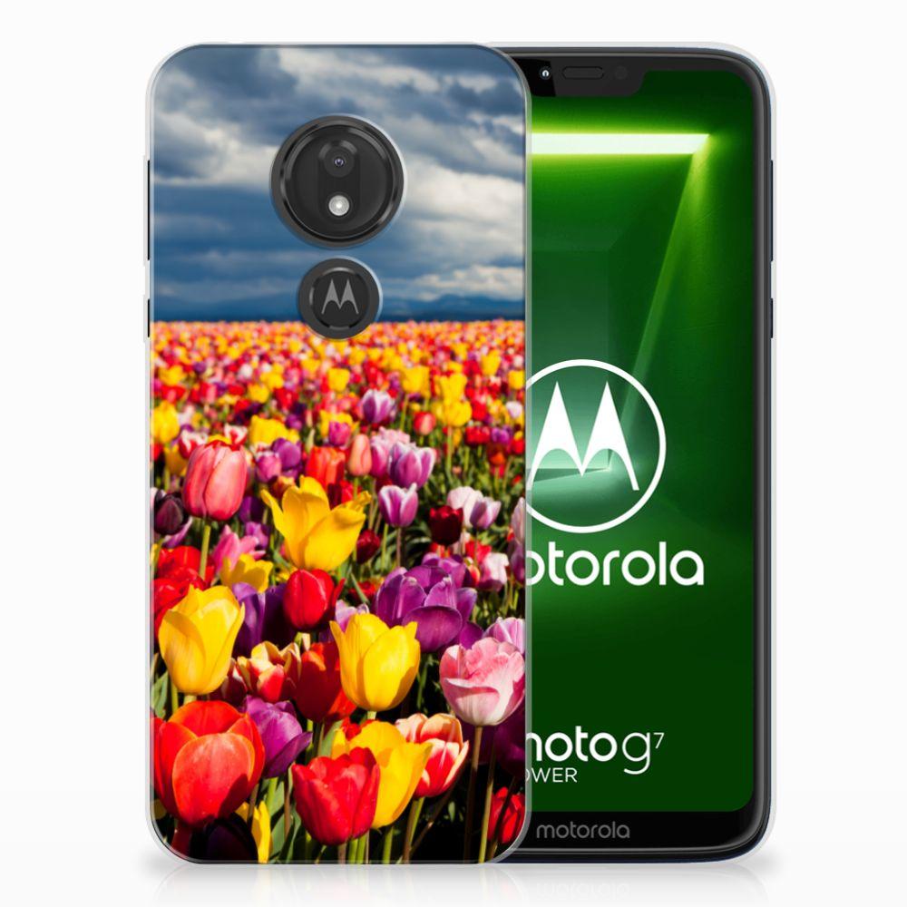 Motorola Moto G7 Power Uniek TPU Hoesje Tulpen