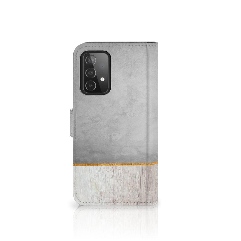 Samsung Galaxy A52 Book Style Case Wood Concrete