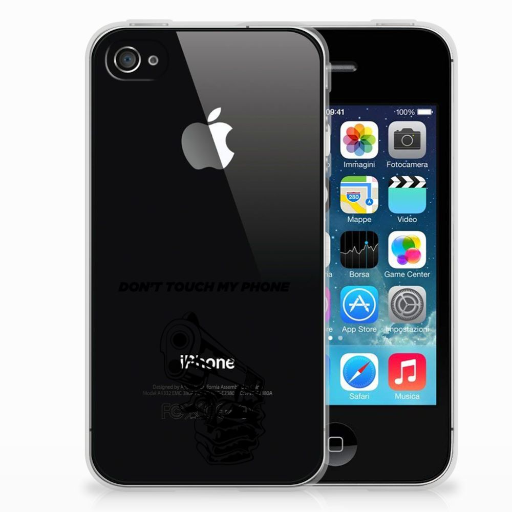 Apple iPhone 4 | 4s Silicone-hoesje Gun DTMP