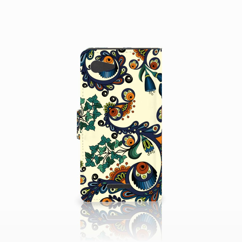 Wallet Case Sony Xperia E3 Barok Flower