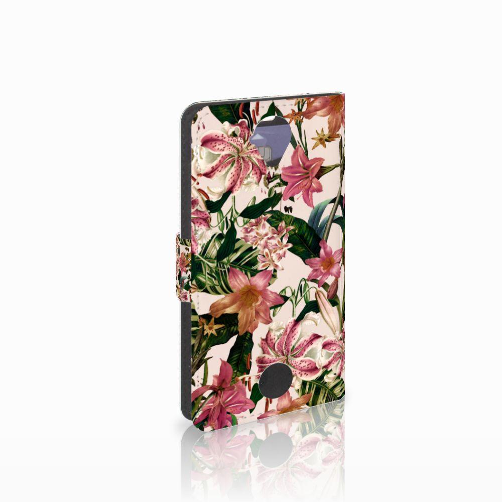 Acer Liquid Z330 Uniek Boekhoesje Flowers