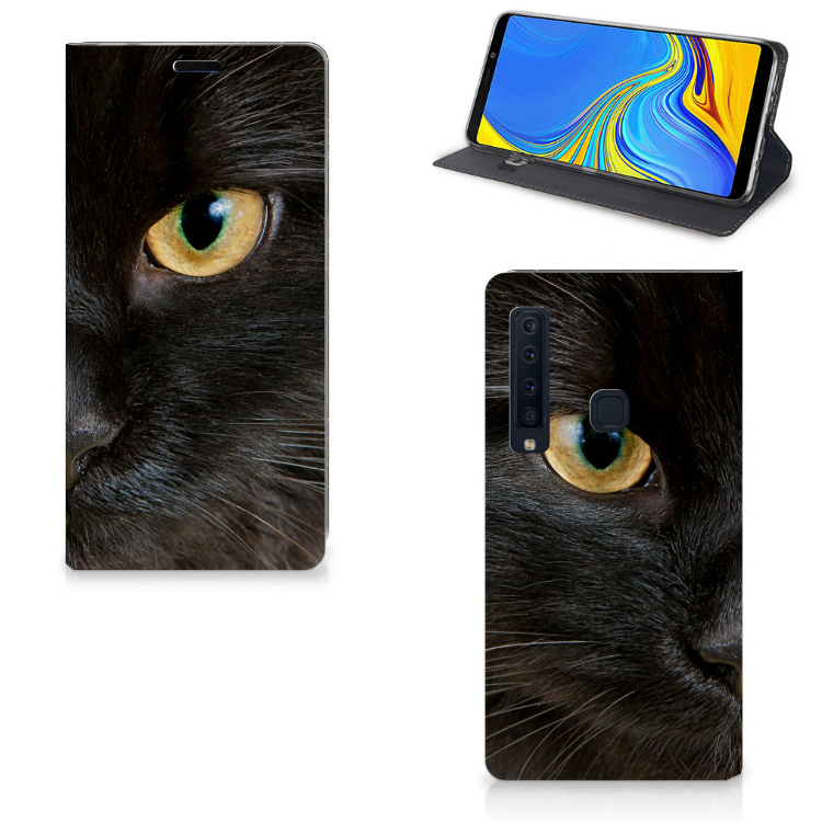 Samsung Galaxy A9 (2018) Hoesje maken Zwarte Kat