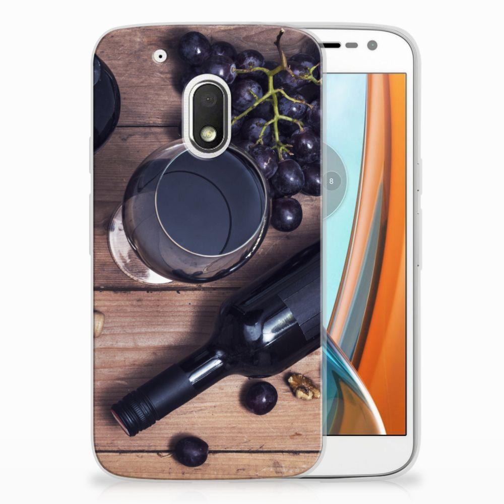 Motorola Moto G4 Play Siliconen Case Wijn